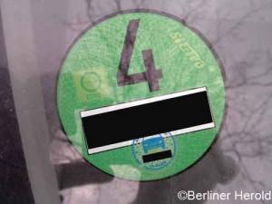 Ohne sie nicht mehr in die Innenstadt - Die grüne Plakette