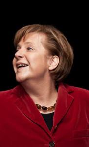 Hat gut Lachen - Kanzlerin Merkel