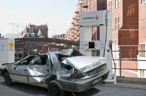 Das Brennstoffzellen-Peugeot  405 °C Coupé in der Straßenversion
